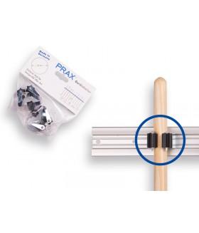 Prax steelklem rond 25 mm. prijs per twee stuks in blisterverpakking.