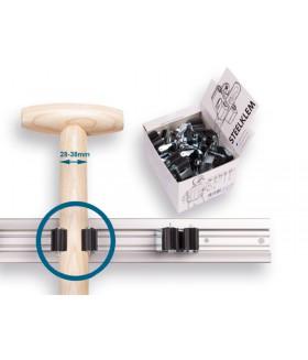1 x displaydoos prax met steelklemmen rond 35 mm. inhoud/prijs per 20