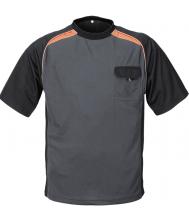 Terratrend t-shirt grijs/oranje/zwart maat S